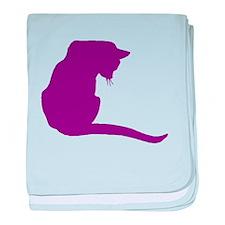 Purple Cat baby blanket