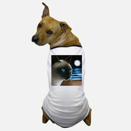 cat 396 siamese Dog T-Shirt