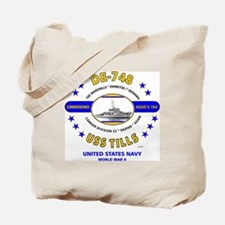 USS TILLS DE-748 WORLD WAR II Tote Bag