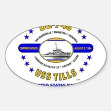 USS TILLS DE-748 WORLD WAR II Decal