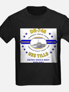 USS TILLS DE-748 WORLD WAR II T-Shirt