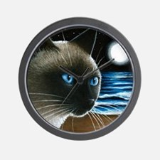 cat 396 siamese Wall Clock