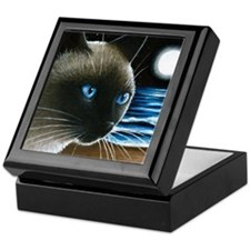 cat 396 siamese Keepsake Box