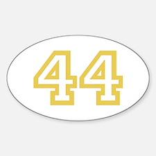 GOLD #44 Sticker (Oval)