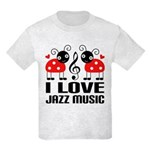 I Love Jazz Music Ladybug Kids Light T-Shirt