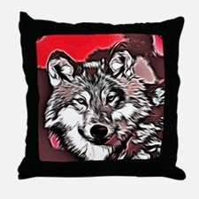 Wolf 2014-0976 Throw Pillow