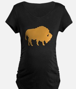 Brown Bison Maternity T-Shirt