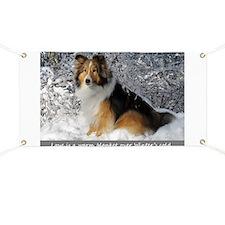Cute Shetland sheepdogs Banner