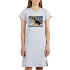 Cute Shetland sheepdogs Women's Nightshirt