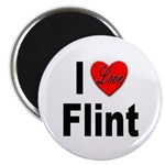 I Love Flint Magnet