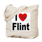 I Love Flint Tote Bag