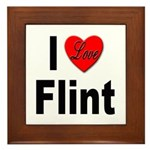 I Love Flint Framed Tile