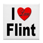 I Love Flint Tile Coaster