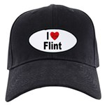 I Love Flint Black Cap