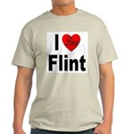 I Love Flint (Front) Light T-Shirt