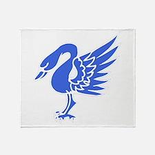 Blue Swan Throw Blanket