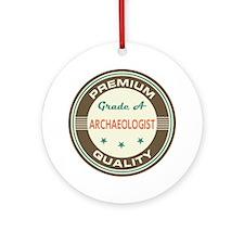 Archaeologist Vintage Ornament (Round)