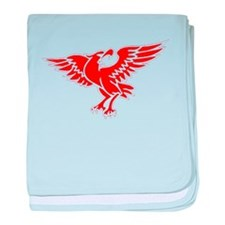 Red Eagle baby blanket