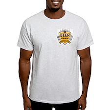 Ash Grey Beer Church Logo T-Shirt