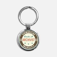 Archivist Vintage Round Keychain