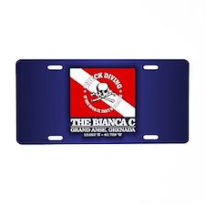 Bianca C Aluminum License Plate