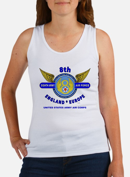 8TH ARMY AIR FORCE*ARMY AIR CORPS Women's Tank Top