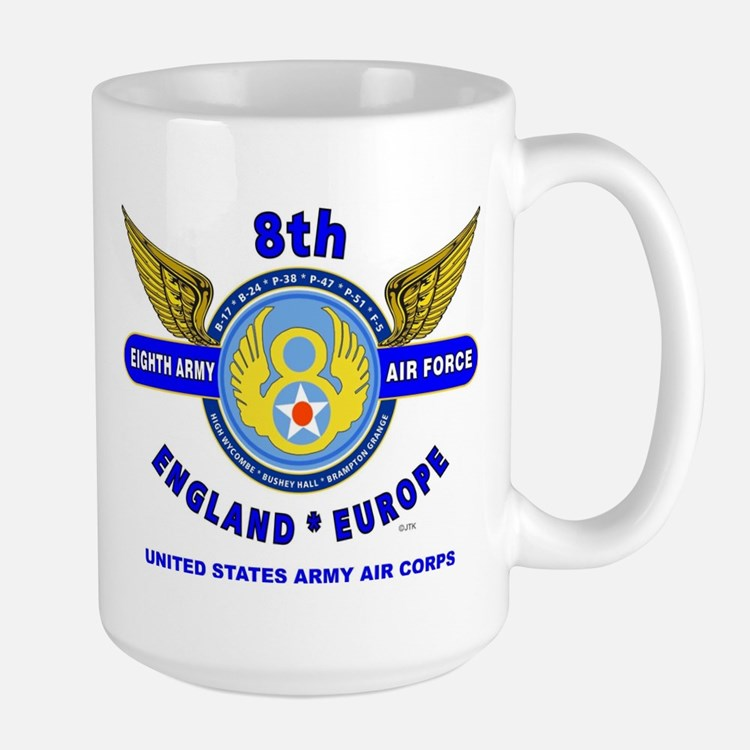 8TH ARMY AIR FORCE*ARMY AIR CORPS WORLD Large Mug