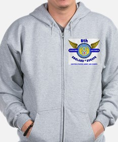 8TH ARMY AIR FORCE*ARMY AIR CORPS WORLD Zip Hoodie