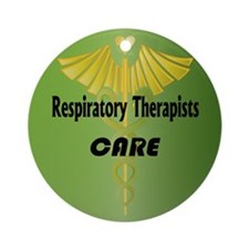 Respiratory Therapists Care Ornament (Round)