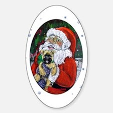 Santa and Me Cairn Oval Decal