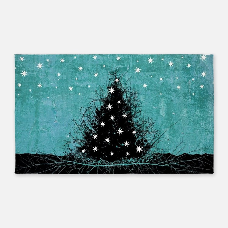 Bare Branches Holiday Tree 3'x5' Area Rug