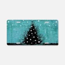 Bare Branches Holiday Tree Aluminum License Plate