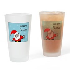 FUNNY CHRISTMAS DECOR Drinking Glass