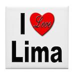 I Love Lima Tile Coaster