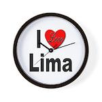 I Love Lima Wall Clock