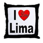 I Love Lima Throw Pillow