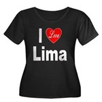 I Love Lima (Front) Women's Plus Size Scoop Neck D