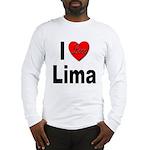 I Love Lima (Front) Long Sleeve T-Shirt