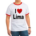 I Love Lima Ringer T