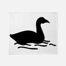 Swan Silhouette Throw Blanket
