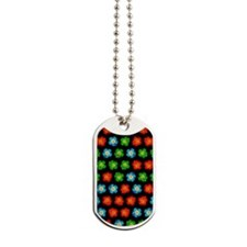 Tiny hibiscus pattern Dog Tags