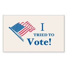 I Tried To Vote! Decal