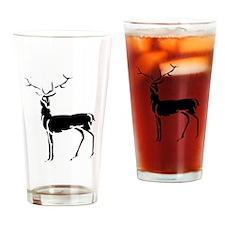 Buck Silhouette Drinking Glass
