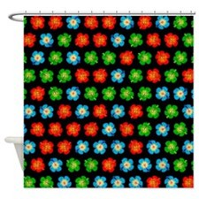 Tiny hibiscus pattern Shower Curtain