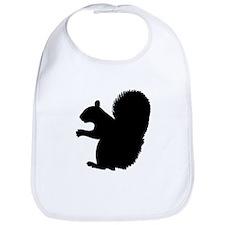 Squirrel Silhouette Bib