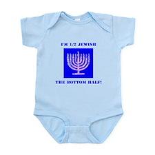 Funny Half Jewish the Bottom 1/2 Body Suit