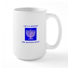 Funny Half Jewish the Bottom 1/2 Mugs