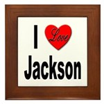 I Love Jackson Framed Tile