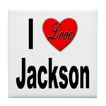 I Love Jackson Tile Coaster