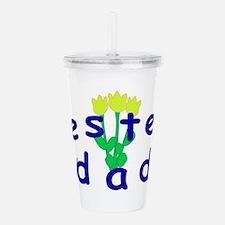 Bestest Dad Acrylic Double-wall Tumbler